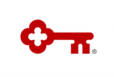 KeyBank logo depicting a red key and trademark
