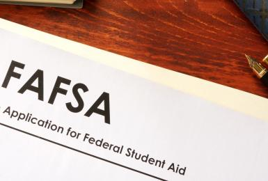 FAFSA application on desk