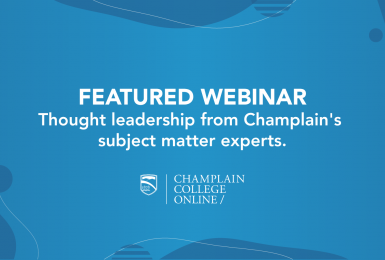 Champlain College Online generic featured webinar image.