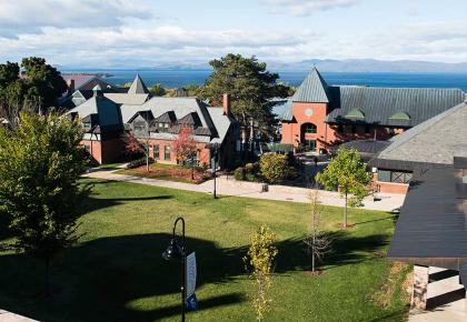 The Champlain College campus in Burlington, VT