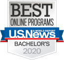 US News & World Report Best Online Programs Bachelor's Badge 2020