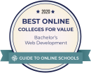 Ranked among best online web development bachelor's degrees