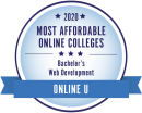 Ranked among the most affordable online web development bachelor's degrees