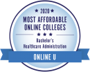 Ranked amount the most affordable online healthcare administration bachelor's degree