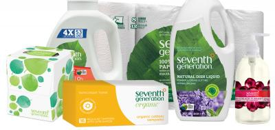 Variety of Seventh Generation products