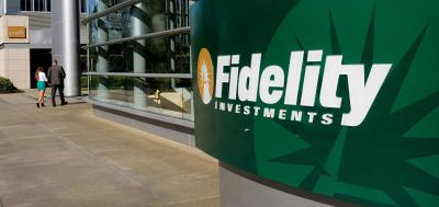 Fidelity sign outside of building